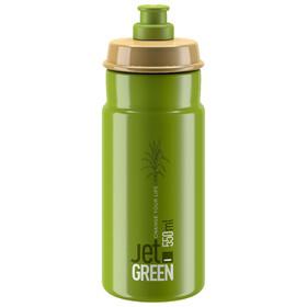 Elite Jet Green Drinking Bottle 550ml, green olive/white logo